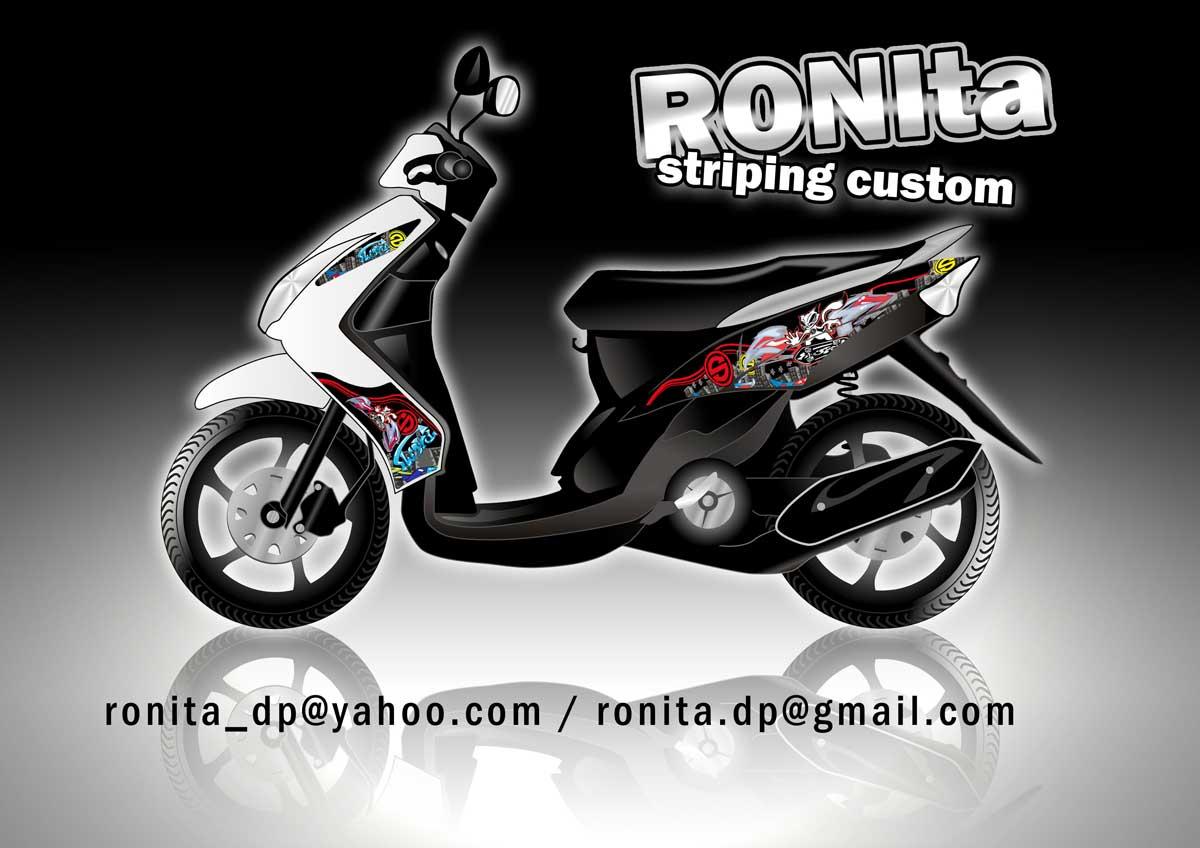 Stiker Striping Motor Custom RONIta RONIta Digital Printing