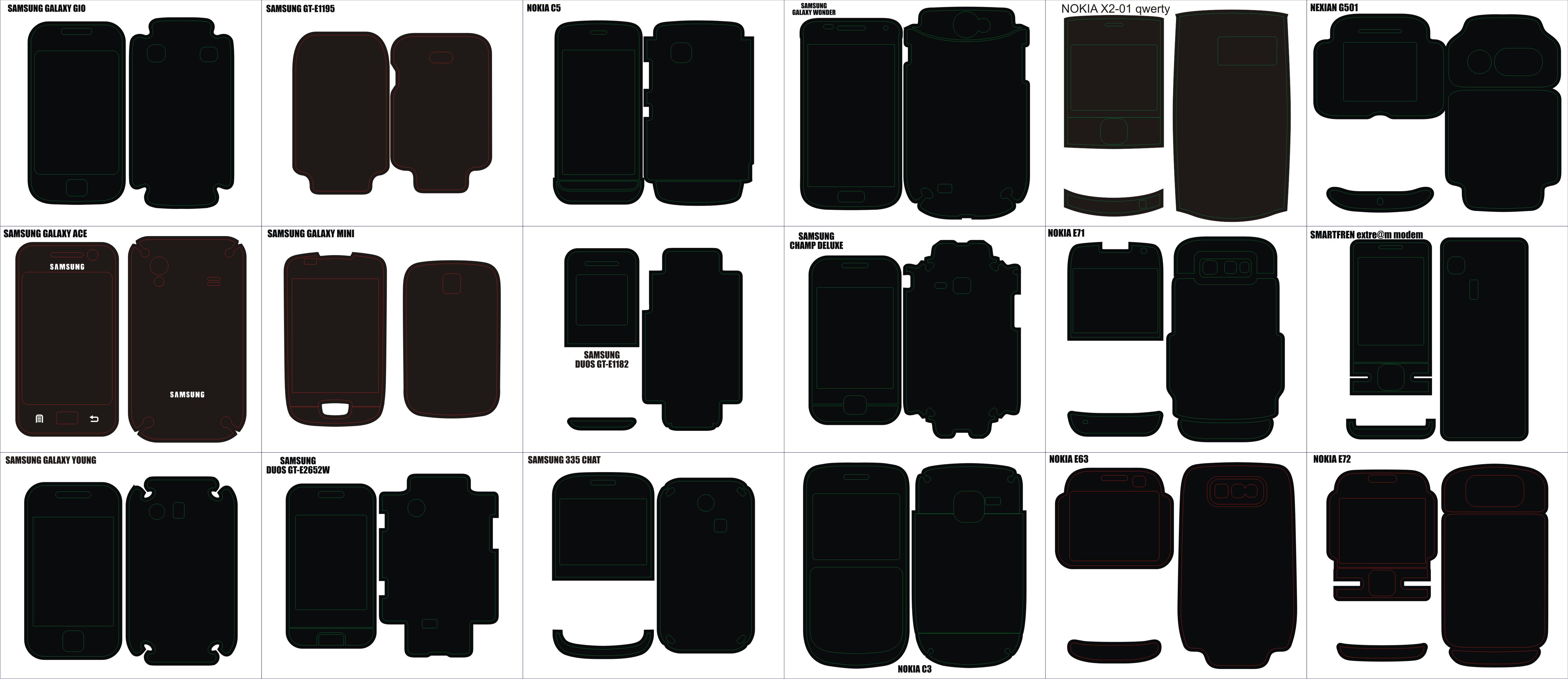 Pola Skin Handphone Blackbery Ipad Iphone Ipod Samsung Galaxy