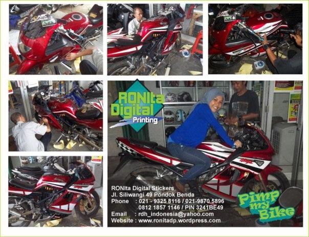 striping motor kawasaki ninja 150 RR ronita dp