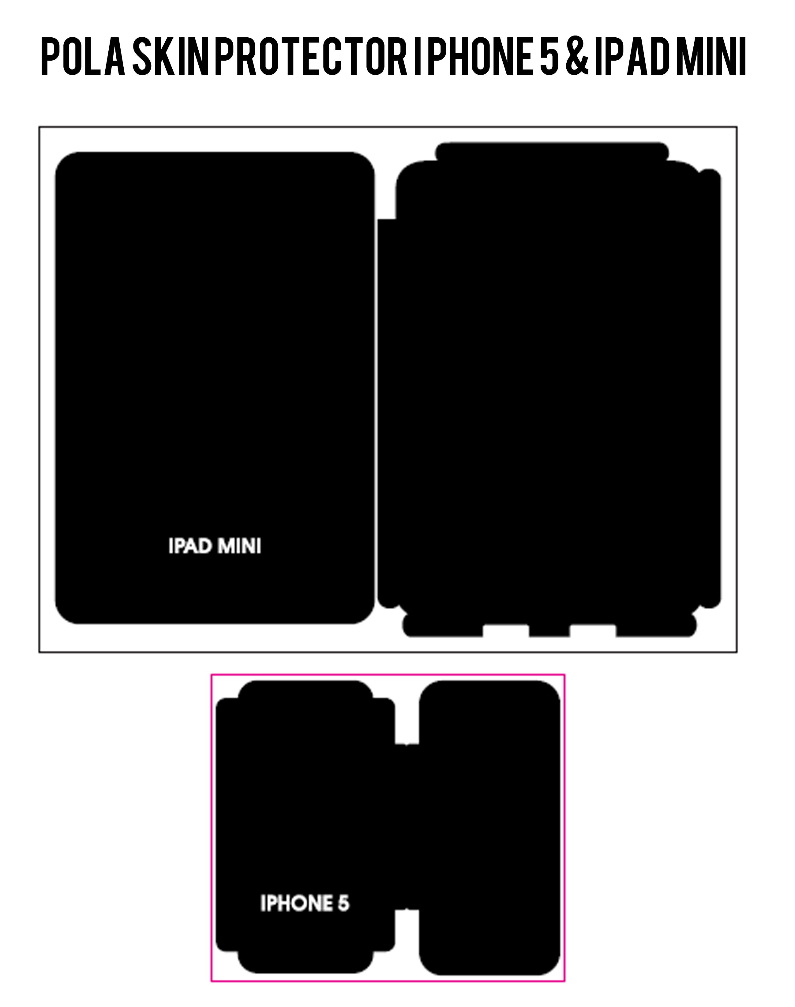 pola skin iphone 5 & ipad mini