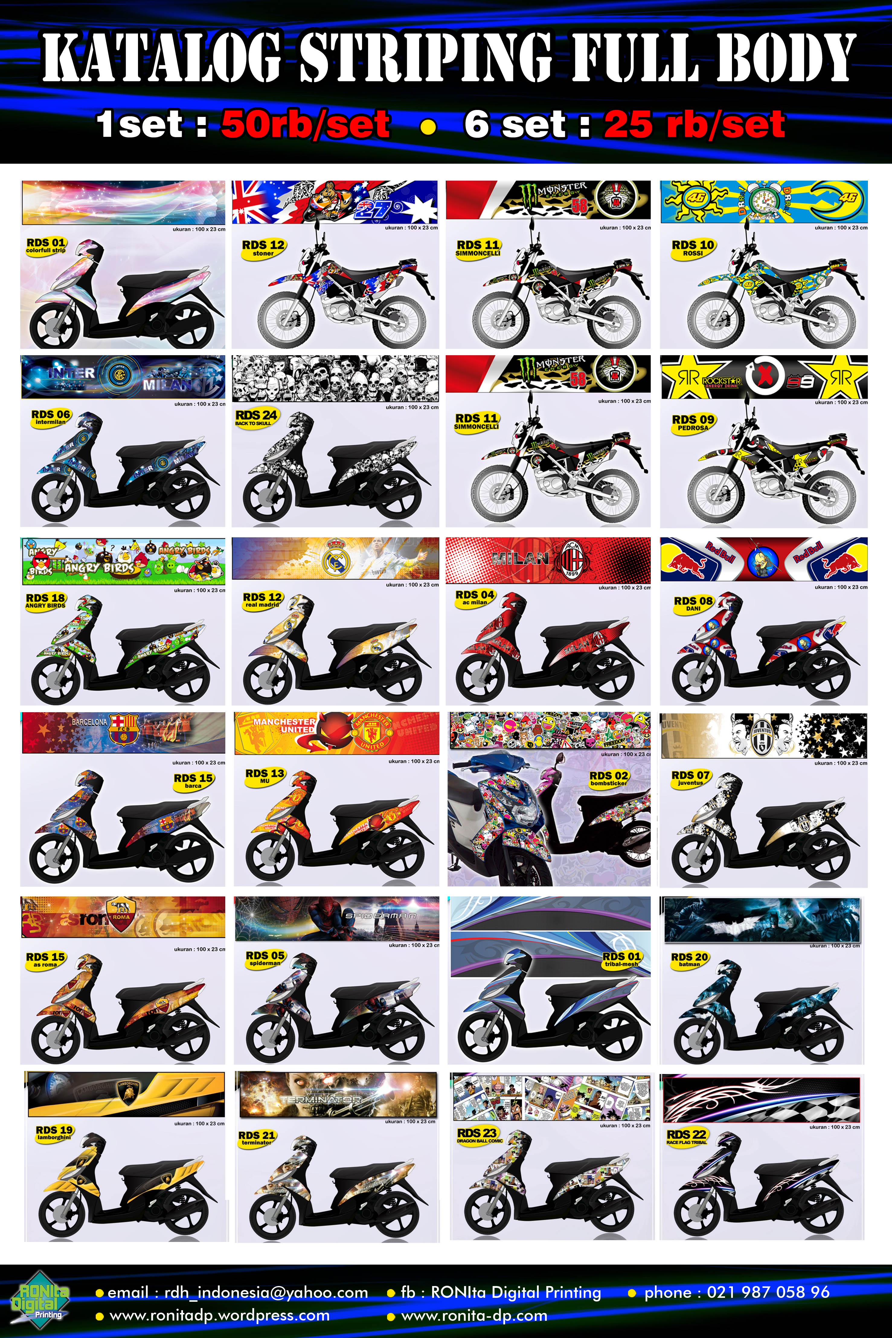 KATALOG STRIPING MOTOR CUSTOM FULL BODY RONIta DP RONIta Digital