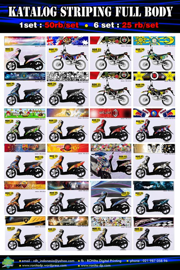 STRIPING MOTOR FULL BODY 1 SET : 50RB... 6 SET : 25RB PER SET order : rdh_indonesia@yahoo.com