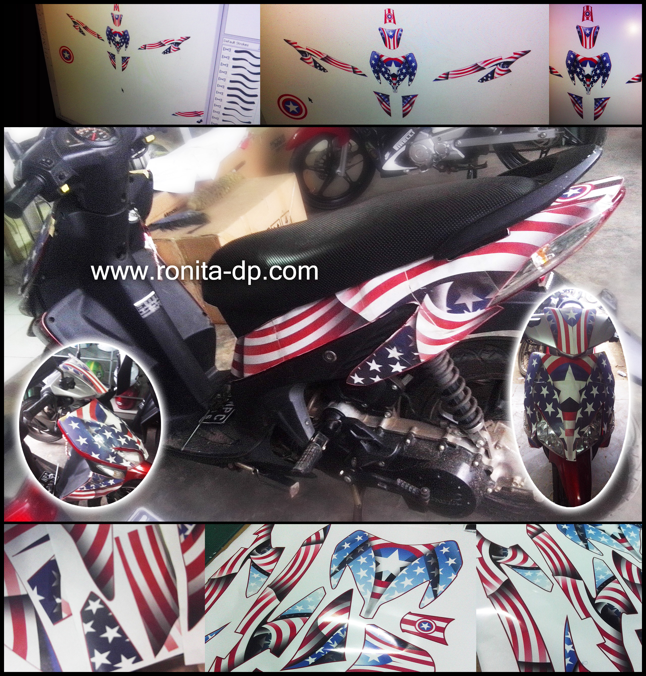 Striping motor custom vario cw ronita dp