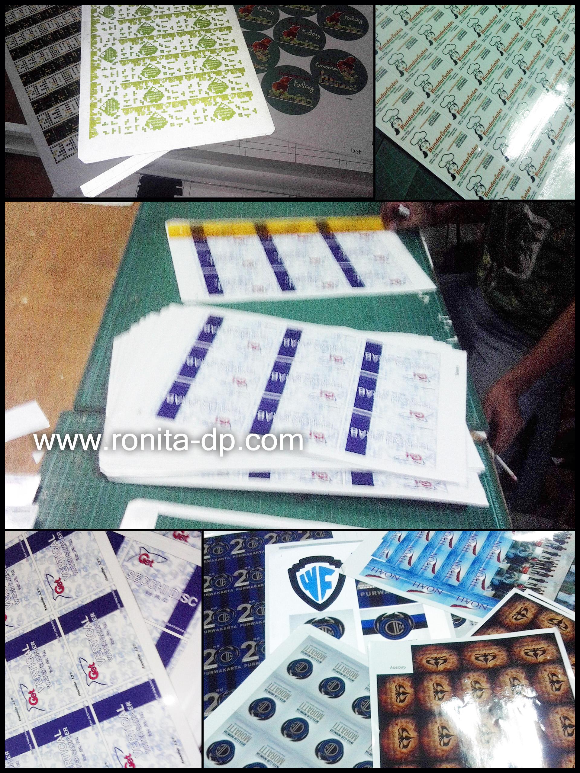 Layanan cetak sticker a3 fujixerox ronita dp ronita digital printing