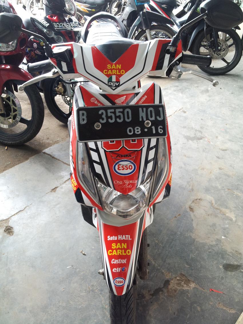 78 Modifikasi Striping Motor Beat Putih Terupdate Kempoul Motor