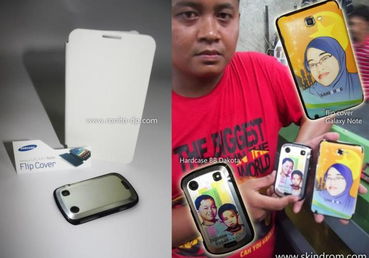 sampel produk hardcase dakota dan flip cover  galaxy note