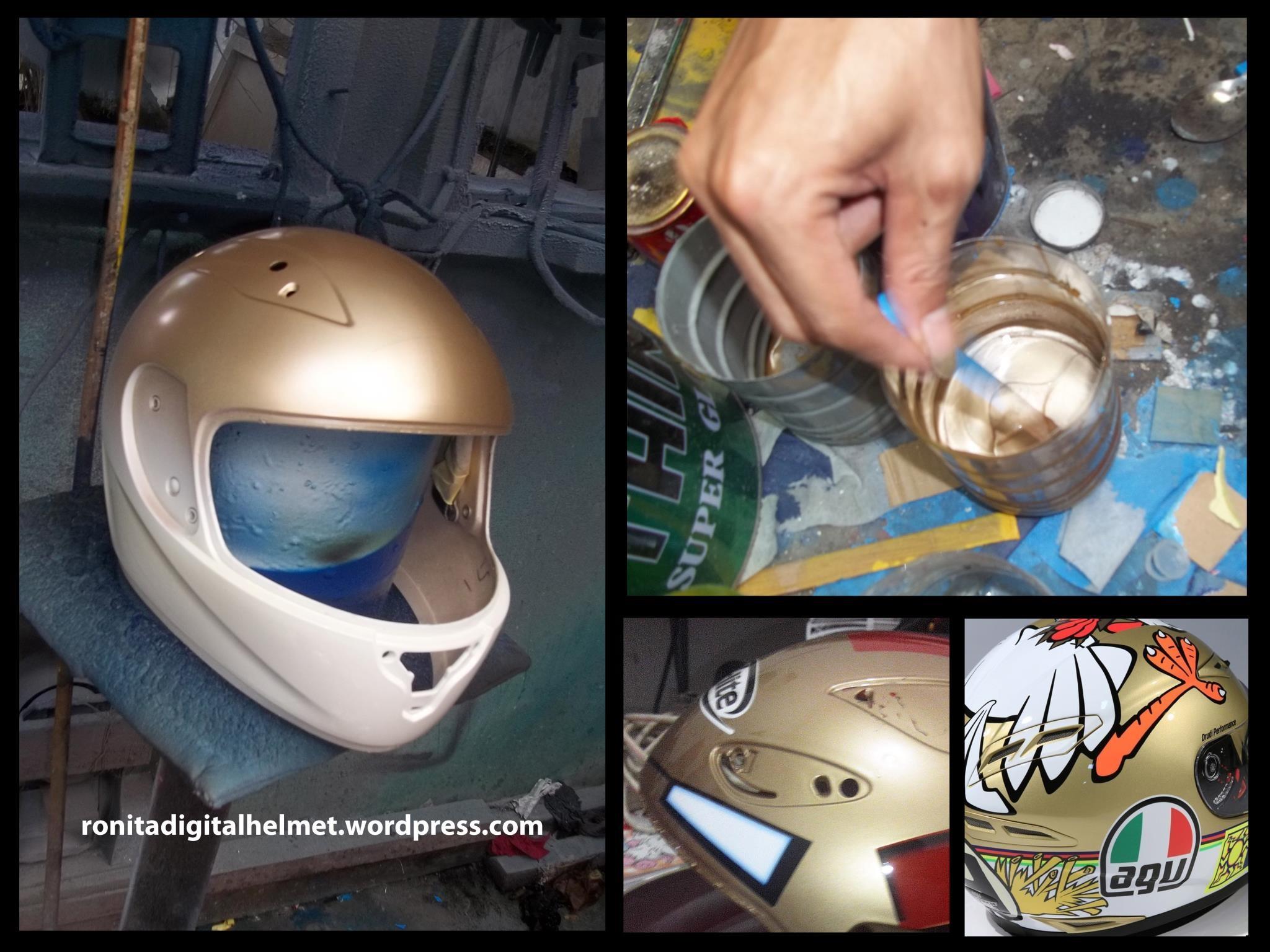 Repaint Helm Ronita Digital Printing Stiker Desain Rpha Lorenzo Pengecatan