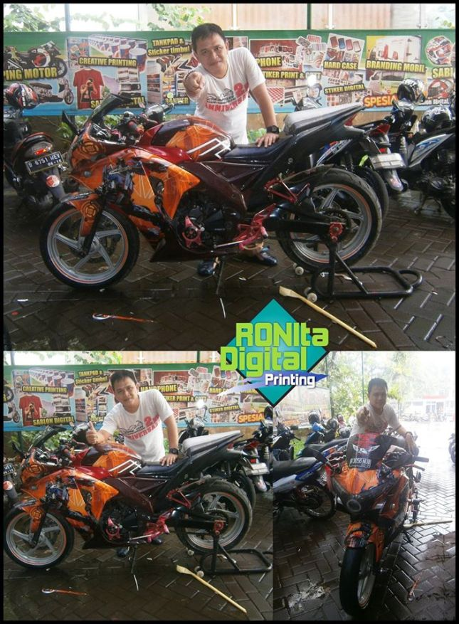 striping custom honda cbr 150