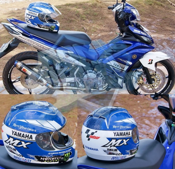 helm-custom-dengan-motif-striping-motor