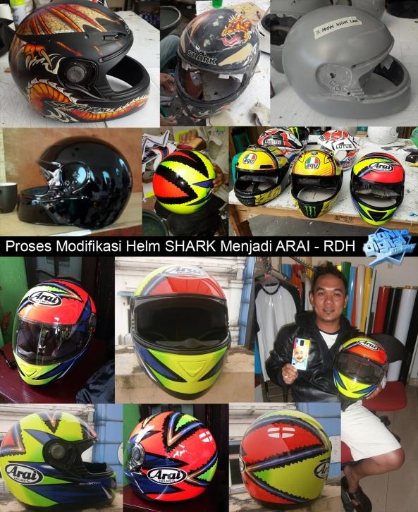 Proses-modifikasi-helm-shark-menjadi-arai