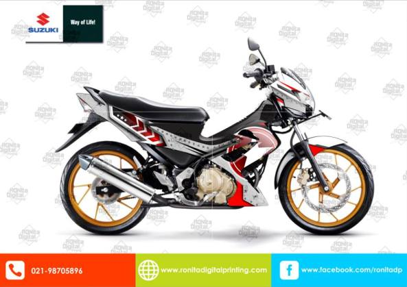sticker striping satria 5