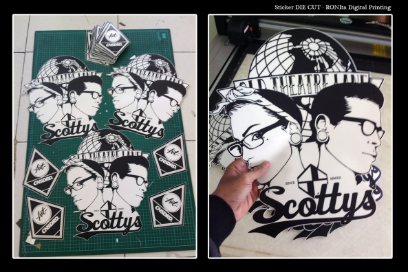 Custom die cut sticker ronita