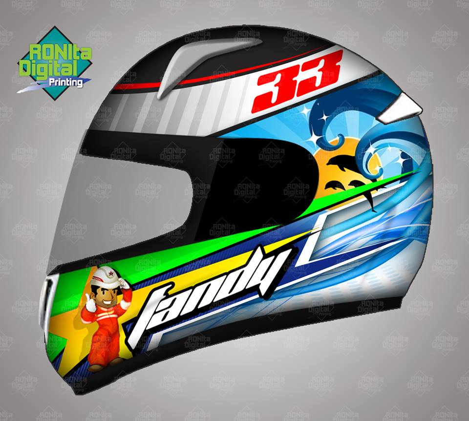 Helm Custom RONIta Digital Printing