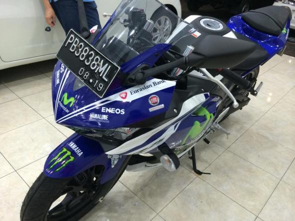 Yamaha R25 motif movistar 2014 papua 2