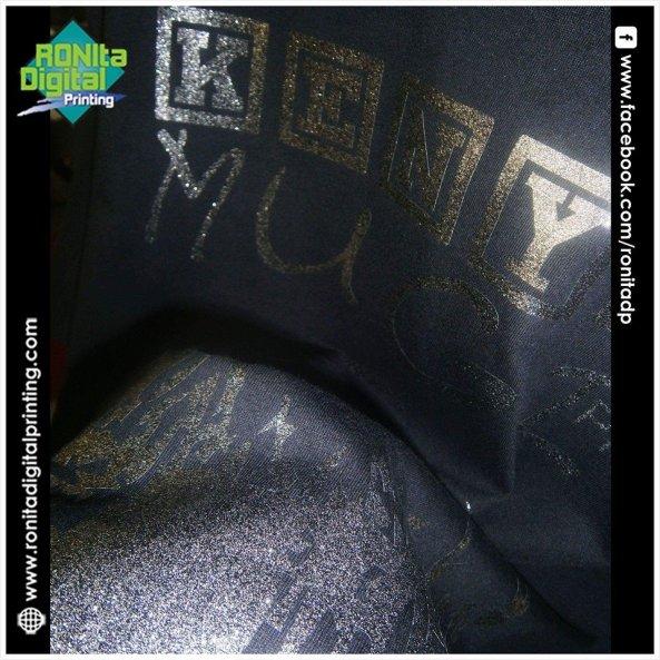 sablon glitter ronita warna hitam