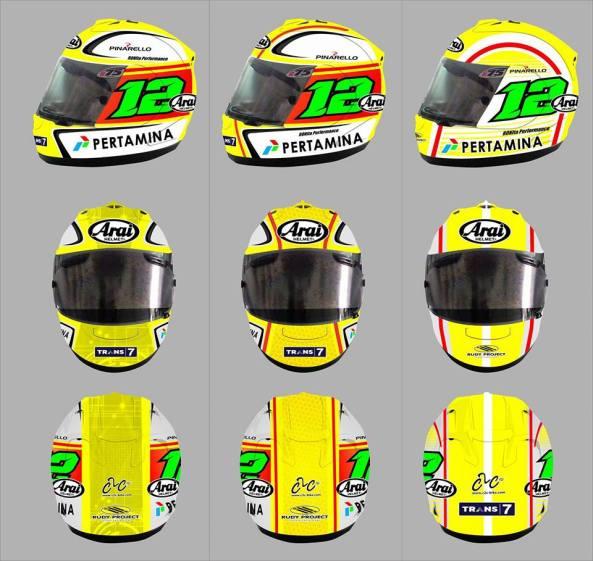 design helm pembalap