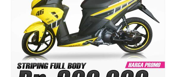harga promo striping motor