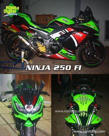 Modifikasi motor ninja 250 f1 pakai sticker juga bisa
