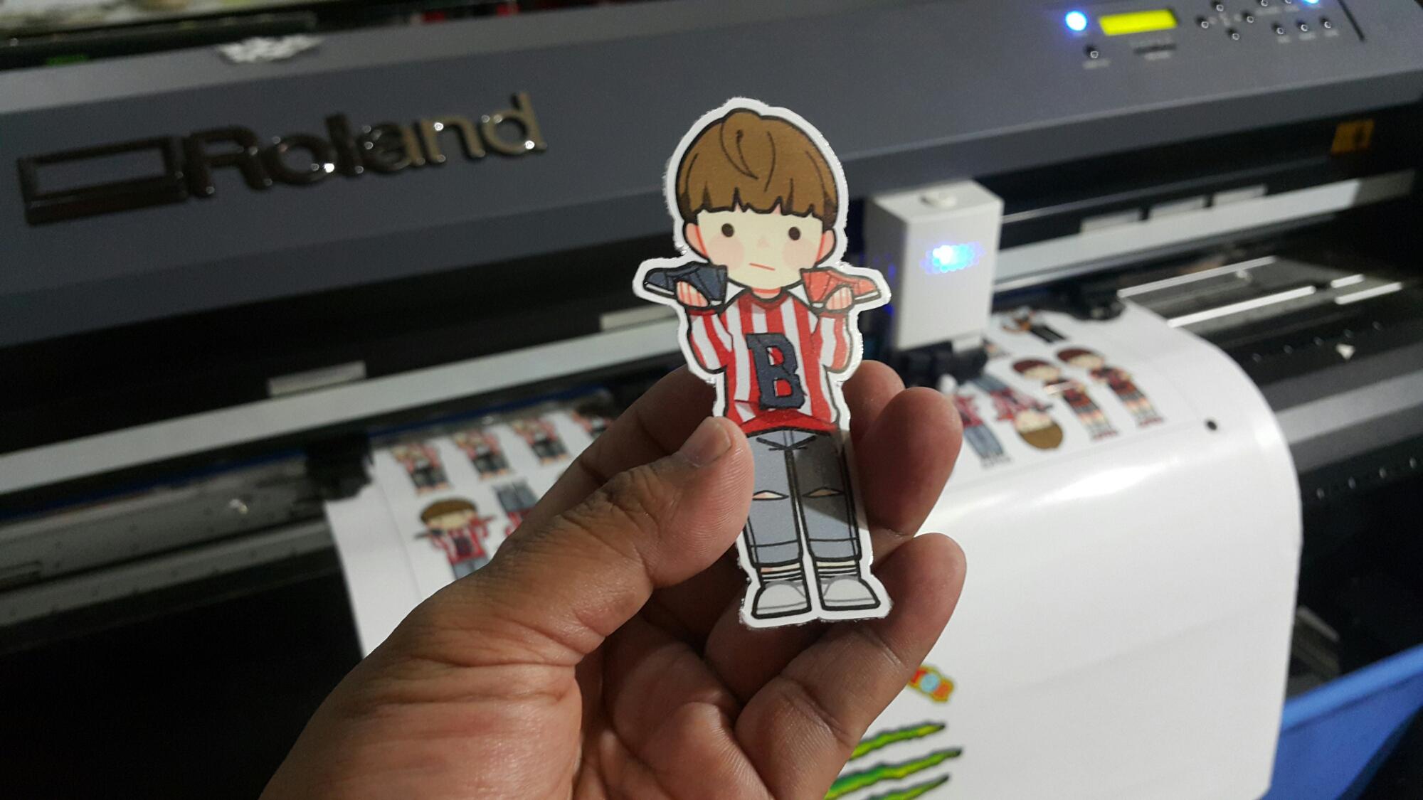 Sticker die cut ronita digital printing