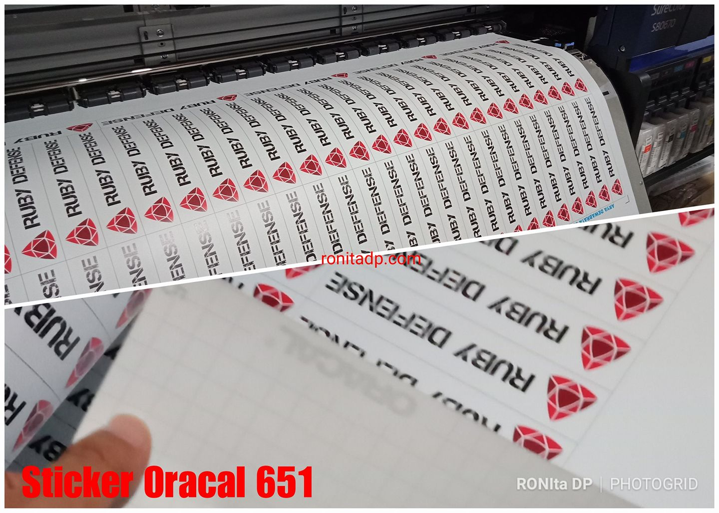 graphic regarding Oracal Printable Vinyl named Cetak Sticker Oracal 651 Dengan Tinta Authentic Epson Jepang